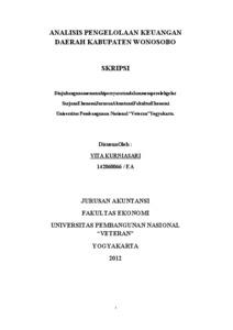 Analisis Pengelolaan Keuangan Daerah Kabupaten Wonosobo Eprints Upn Veteran Yogyakarta