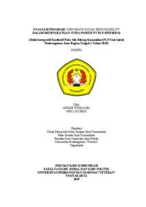 Evaluasi Program Corporate Social Responsibility Dalam